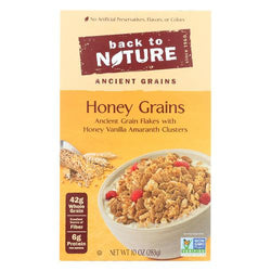 Back To Nature Ancient Grains Cereal - Honey Grains - Case of 6 - 10 oz.