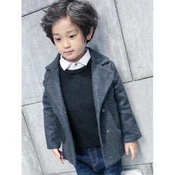 Boys Double-Breasted Wool Coat