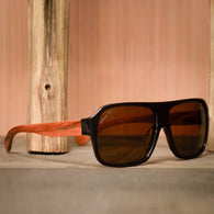 Bomber Redwood Polarized Sunglasses - golf-post