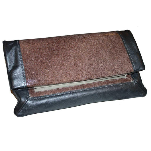 The Brooklyn Fold-Over Clutch - Cocoa