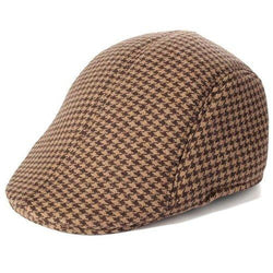 Men's Cotton Blend Winter Warm Gatsby Duckbill Ivy Hat  Golf Driving Newsboy Cap