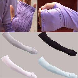 Sport Arm Cooling Sleeves Gloves UV Sun Protection Cover Golf Driving Gloves