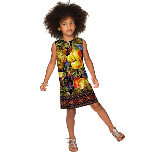 Summer Night Adele Unique Elegant Fancy Shift Dress - Girls
