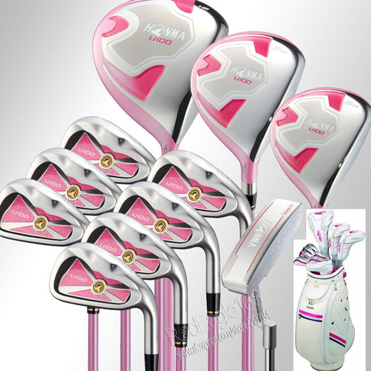 New Women Honma U100 Golf clubs Compelete set  wood+irons+Putter+Golf Bag and Graphite Golf shaft  clubs set free shipping - golf-post