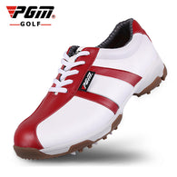 2017 New Genuine Leather PGM golf shoes women golf shoes cowhide breathable anti-skid groove Patent golf Sneakers - golf-post