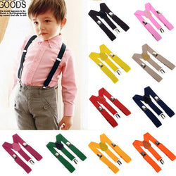 2017 Unisex Kids Boy Girls Clip-on Suspenders with Adjustable Elastic Braces Children Apparel Accessories 6colors - golf-post