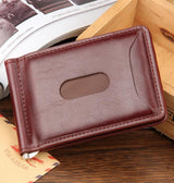 2017 Hot Sale Fashion New Men Money Clips Leather 2 folded Open Clamp For Money With Zipper Pocket Free Shipping - golf-post
