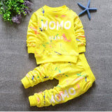2017 new autumm baby sets baby boys splash-ink long sleeved suit shirt and pants apparel set clothing for baby kid boy - golf-post