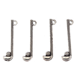 DIY Wholesale Charms 10pcs Retro Antique Silver Alloy Golf Club Ball Charm Pendant