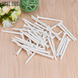 Activing  100pcs 70mm White Plastic Golf TEES Tool Club Training - golf-post