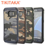 2 in 1 Army Camouflage Armor Case For Samsung Galaxy S7 S6 edge Plus Note 5 Durable Hybrid Hard PC + Soft TPU Cover Phone Cases