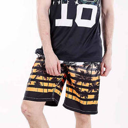 Quick Dry Men Board Shorts Brand Summer Casual Clothing Coconut Trees Swimwears Beach Shorts Men's