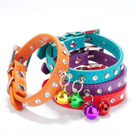 Free shipping Personalized Spiked Studded Soft Leather Cat Puppy Collars Pet Products - golf-post