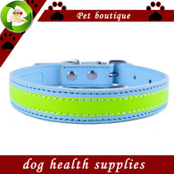 Reflective Dog-Collar Flashing Leather Collars For Dogs Safe Walking Small Pet Products Dog Health Supplies - golf-post