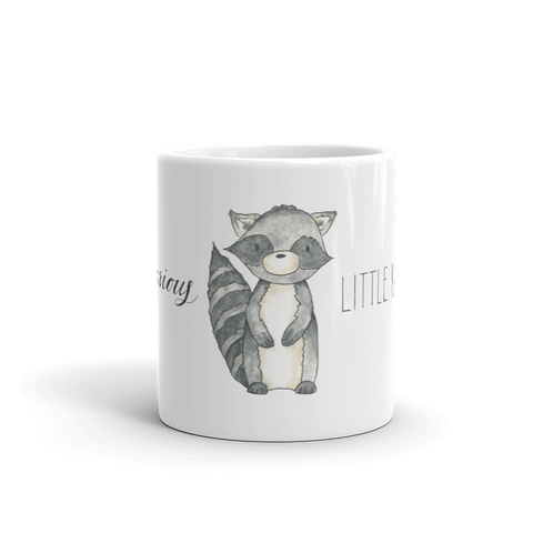 woodland mug little raccoon