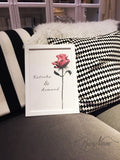 special gift for valentines day red rose painted flower print