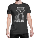 woodland black fox tshirt