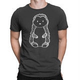 woodland black hedgehog tshirt forest animal