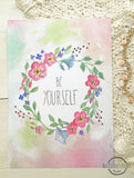 15%Off - Floral Wall Art Print Set of 4 with watercolor flowers - 'Be Your Self' 'You Are Amazing Remember That'. Girls Room Decor. Mother inspiration signs.