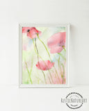 Floral Watercolor Tulip Wall Art Print part of a Girly room quotes set - Floral Girls Room Decor. Boho decor. floral nursery. Teen Girl Room Decor