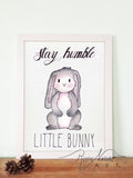 Woodland Animals Little  Bunny Wall Art Print
