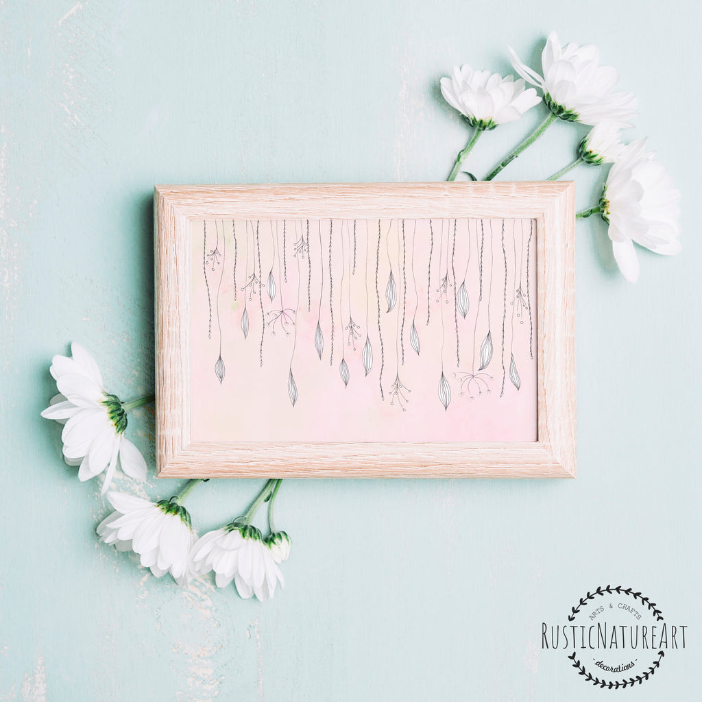 Girly Pink Nursery Decor: Girly Quote Wall Art Print 'Follow Your Dreams'