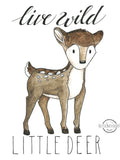 Woodland Animal Little Deer Wall Art Print