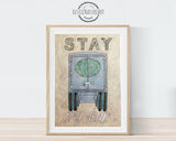 stay righ my dear car themed nursery decor wall art print watercolor