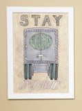 Vintage Watercolor Truck Wall Art - Stay Right my dear