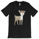 woodland animals deer on t-shirt for men black