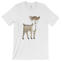 woodland animals deer on t-shirt for men white