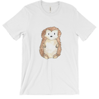 woodland animals hedgehog on t-shirt for men