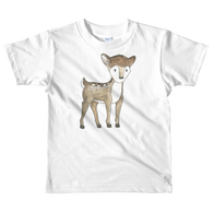woodland nursery little deer on t-shirt white