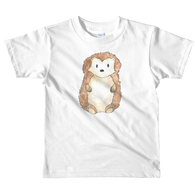 woodland nursery little hedgehog on t-shirt white