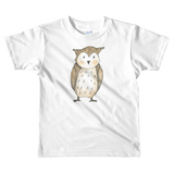 woodland nursery little owl on t-shirt white