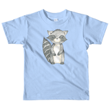 woodland nursery little raccoon on t-shirt baby blue