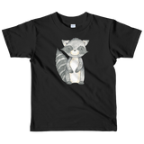 woodland nursery little raccoon on t-shirt black