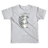 woodland nursery little raccoon on t-shirt grey