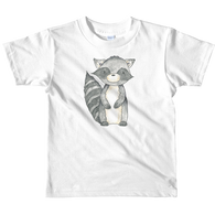 woodland nursery little raccoon on t-shirt white