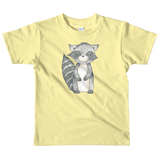 woodland nursery little raccoon on t-shirt yellow