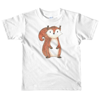 woodland nursery little squirrel on t-shirt white