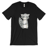 woodland animals raccoon on t-shirt for men black