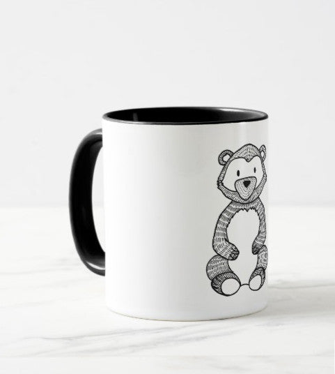 woodland mug little bear black&white elegant design