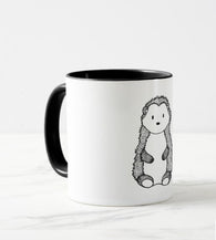 woodland mug little hedgehog black&white elegant design
