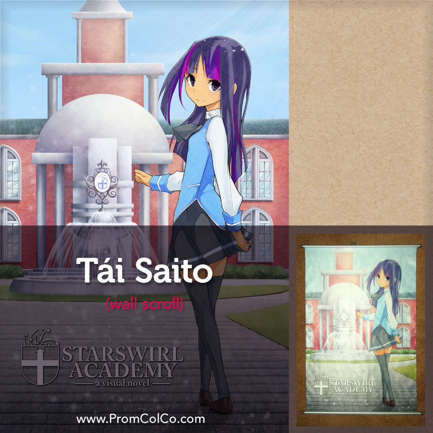 Starswirl Academy Wall Scroll Featuring Tài Saito