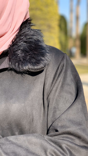 Fur Chamois Maxi Coat