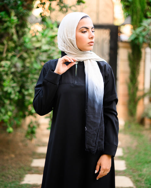 Plain Abaya with Zipper