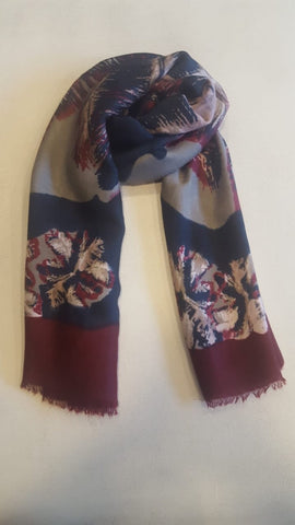 Turkish floral scarf