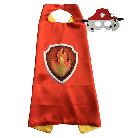Paw Patrol Capes and Masks, Marshall, super fun! Birthday parties, Easter gift, or just fun!