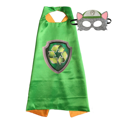 Paw Patrol Capes and Masks, Rocky, super fun! Birthday parties, Easter gift, or just fun!